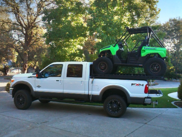 Short Bed Truck with UTV Rack