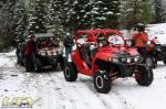 Polaris RZRs on OHV trail in the Eldorado National Forest