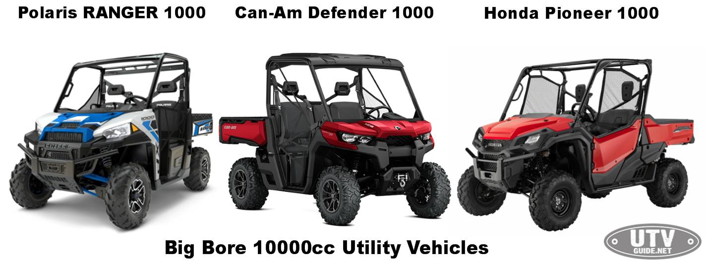 Big Bore 1000cc Utility Vehicles
