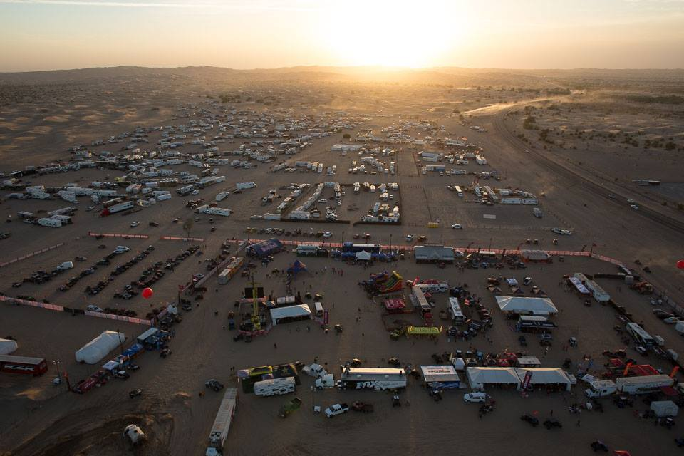 Aerial View of Camp RZR West in Glamis