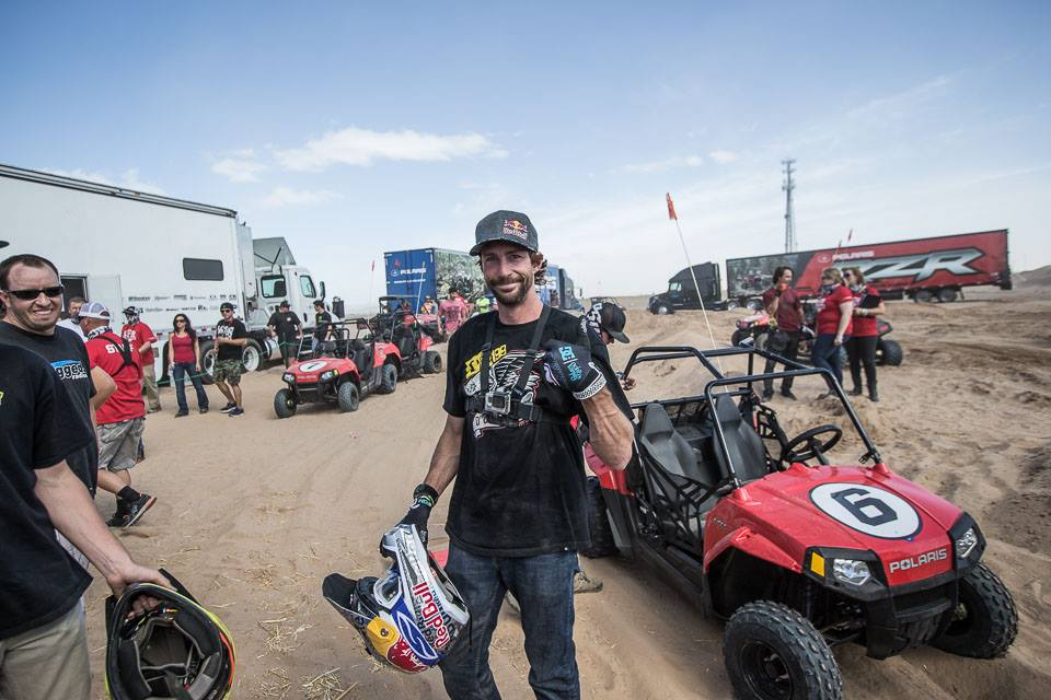 Travis Pastrana wins the RZR 170 Race