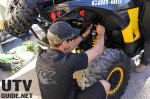 FOX tech adjusting Can-Am Maverick shocks