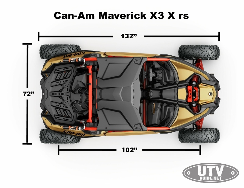 Can-Am Maverick X3 Dimensions