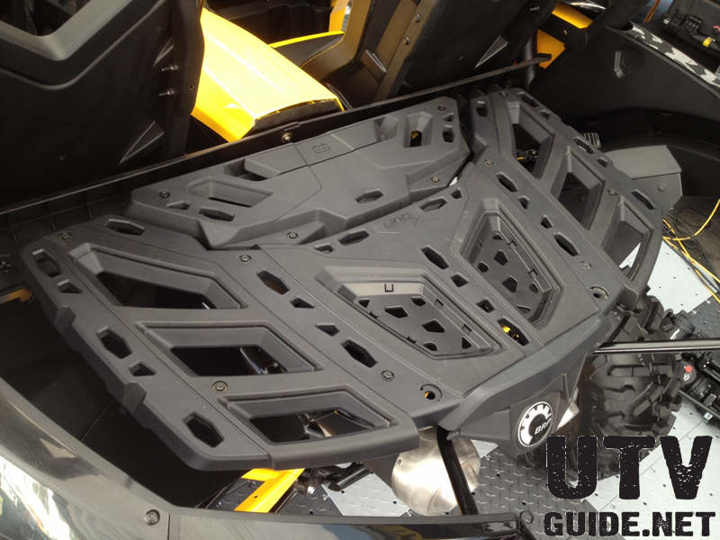 Can-Am Maverick High-Strength, Multipurpose Rear Rack with LinQ Quick-attach Accessory System