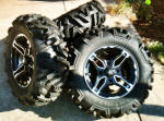"15"" Colorado Components Wheels and 28x15 Tires"