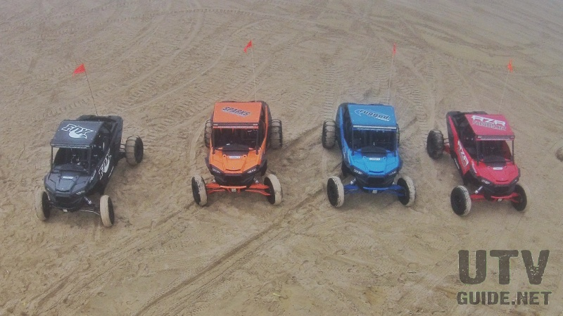 Polaris RZR XP Turbos at Oceano Beach