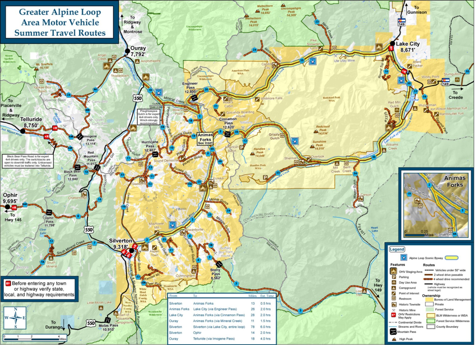 Alpine Loop Map