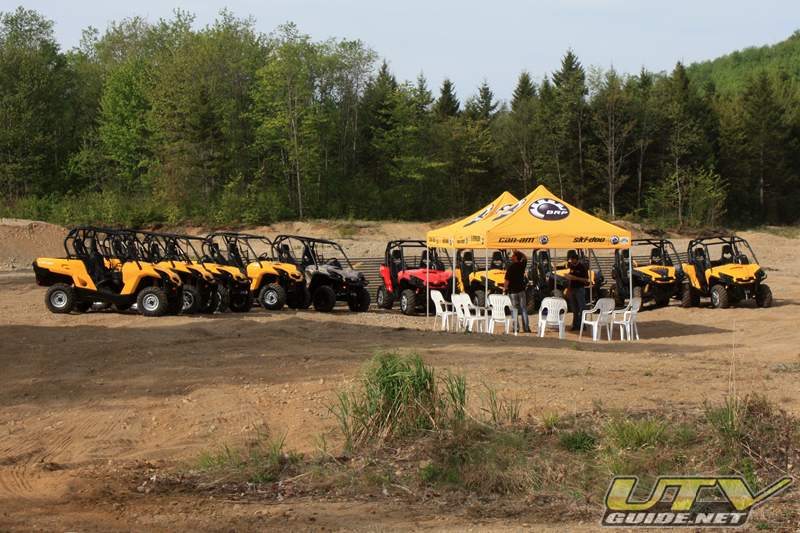 Can-Am Commanders at the Press Introduction near Montreal Canada