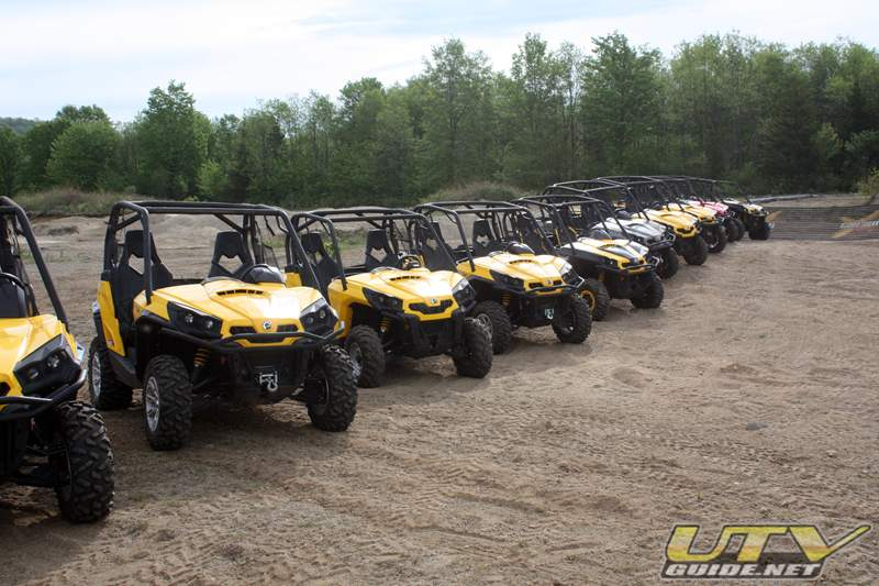 Can-Am Commanders lined up for the press introduction