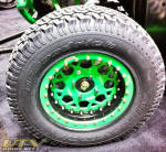 "15"" OMF Billet Center Beadlocks on Arctic Cat Wildcat"