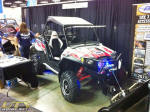 Polaris RZR with plow - EMP at the 2012 Dealer Expo
