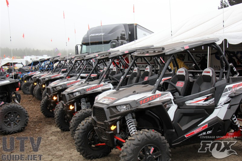 Polaris RZR XP 1000s on display at DuneFest 2013
