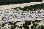Aerial view of DuneFest 2011 - Winchester Bay