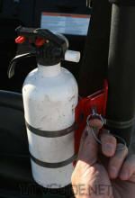 Rhino Quick Release Fire Extinguisher Mount