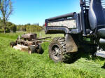 John Deere Gator XUV 825i towing Kunz Rough Cut Mower