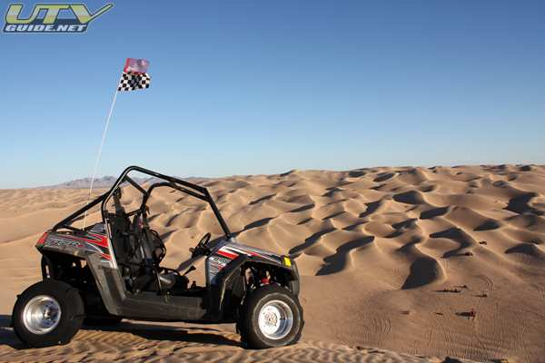 Polaris RZR S on top of China Wall, Glamis