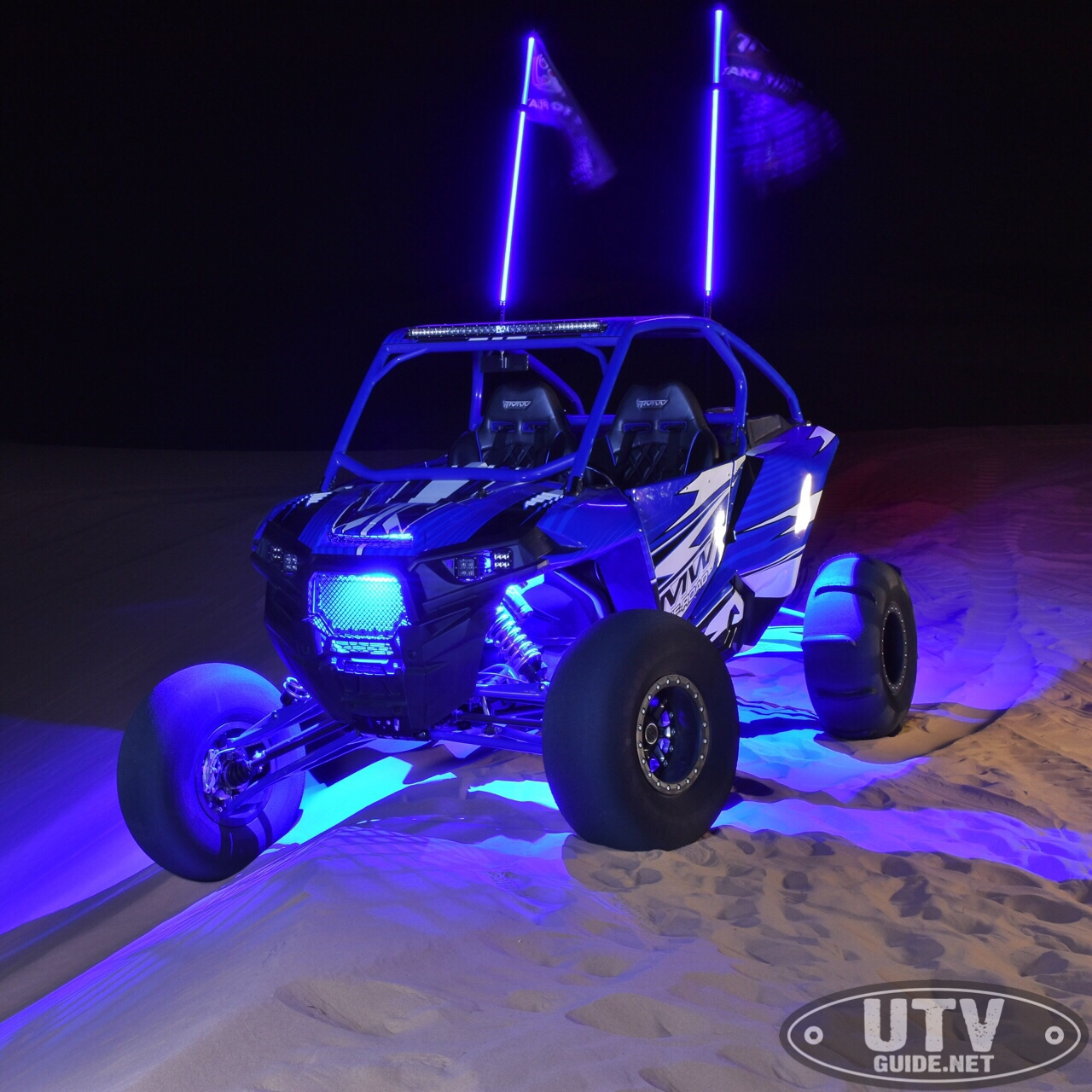 Rigid Industries A-Series blue accent lights