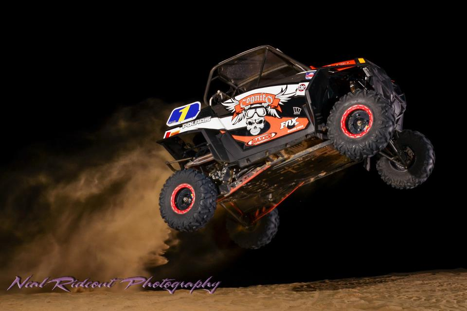 Ryan Piplic jumping his Polaris RZR XP in Glamis