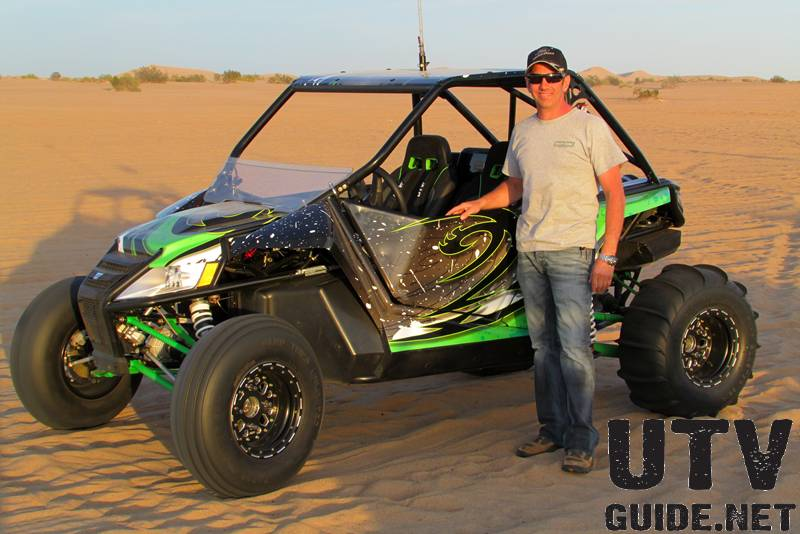 Greg Biffle with his Arctic Cat Wildcat