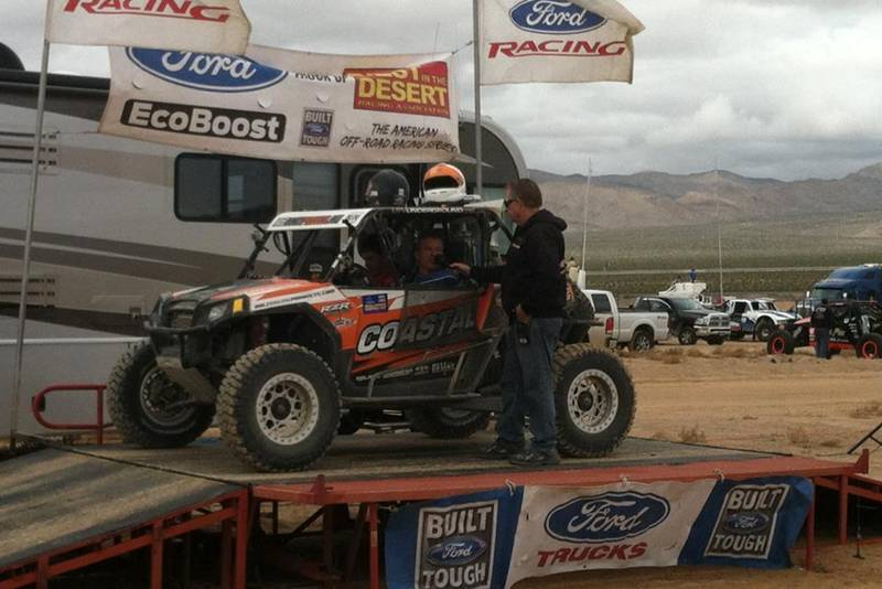 Polaris RZR XP 900 on the podium