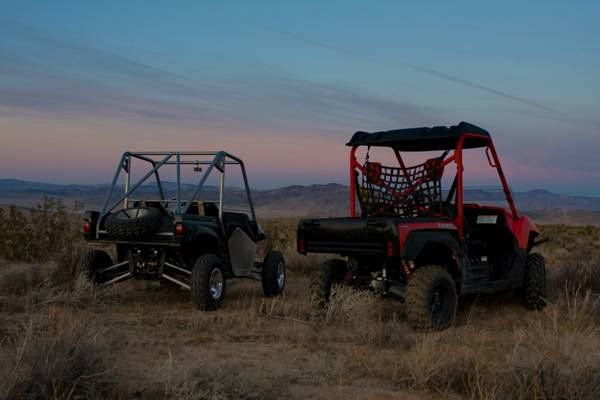 Yamaha Rhino and Kawasaki Teryx at Johnson Valley
