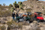 Two Rhinos and a Teryx at Johnson Valley