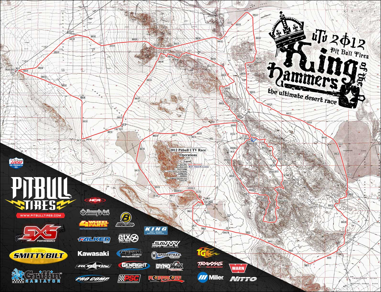 2012 King of the Hammers UTV Race Map