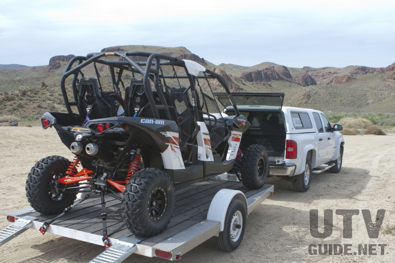 Can-Am Maverick MAX on a 12 foot trailer