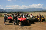 Kipu Ranch Adventures with two and four seat Yamaha Rhinos