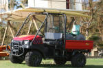 Kauai Fire Department - Lifeguard Kawasaki Mule on Lydgate Beach