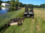 Towable Rough Cut Mower - offset mowing