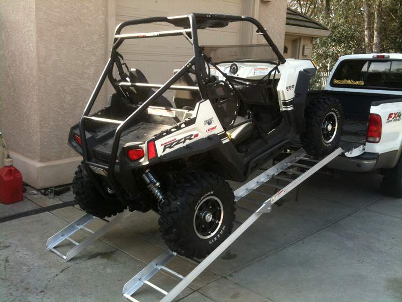 Polaris RZR S on Long ATV Ramps