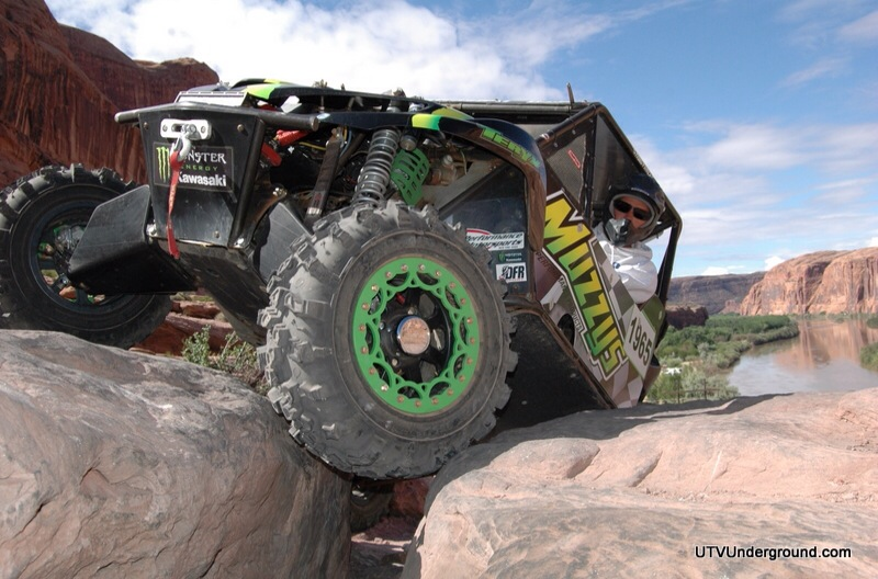 Monster Energy Kawasaki Teryx on Moab Rim Trail