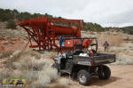 Placer mining equipment at Slaters Mine