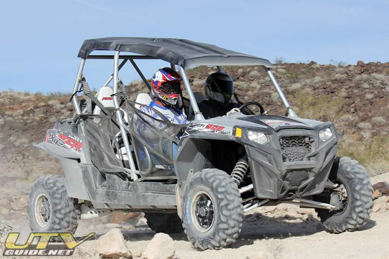 Polaris RZR XP 4 on the Parker 250 race course