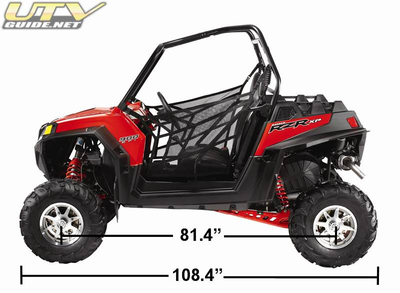 High Lifter Max Clear Lower Radius Bar Kit Polaris RZR XP 900 2011-2014Black