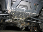 Polaris RZR Skid Plate Damage