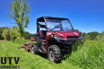 Polaris RANGER XP 900 with Kuntz Rough Cut Field Mower