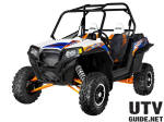 2013 RZR XP 900 EPS-White Lightning/Orange Madness and Blue