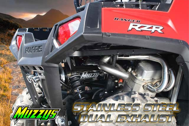 Polaris RZR - Muzzys Dual Exhaust