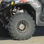 "27.5"" Pit Bull Rocker tires on OMF Performance billet center beadlock wheels"