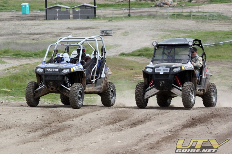 Polaris RZR 4 drag race
