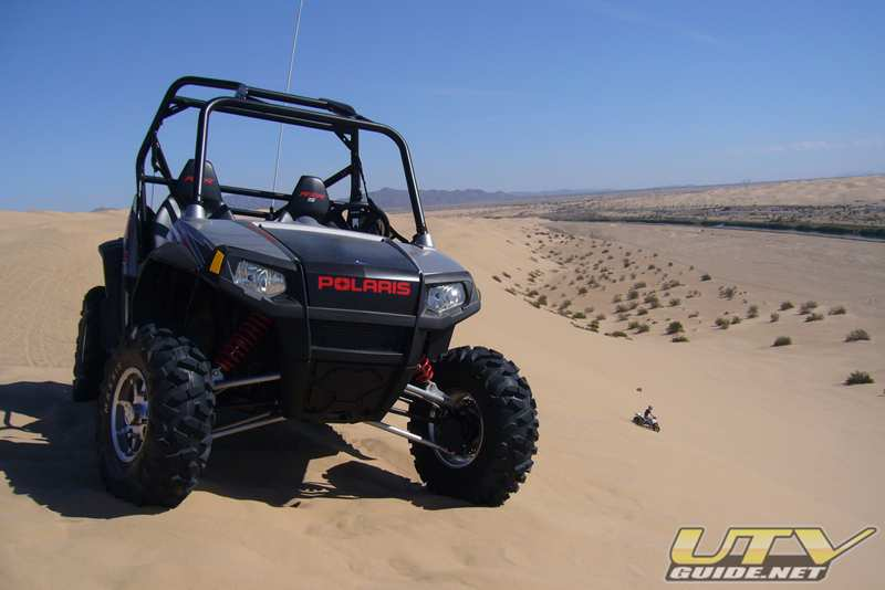 Polaris RZR S at the top of Test Hill - Gordons Well