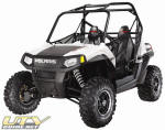2010 Polaris RZR S - Pearl White with Black Rally Stripe