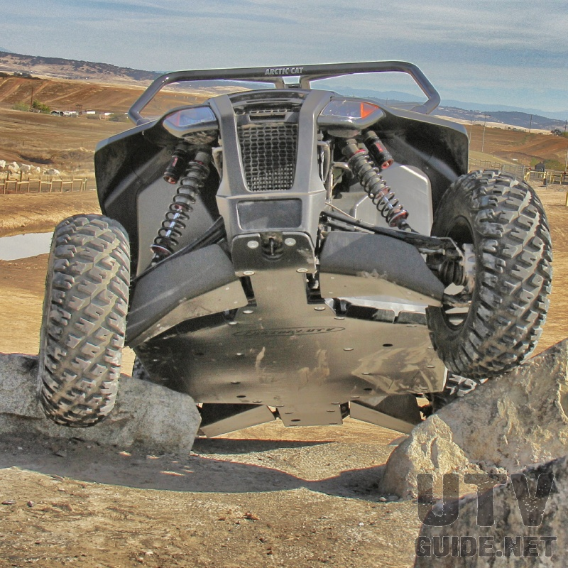 Factory UTV UHMW skid plate, a-arm guards and rock sliders