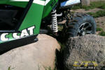 Arctic Cat Wildcat trailing arm in the rocks