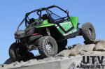 Rock crawling with our Arctic Cat Wildcat