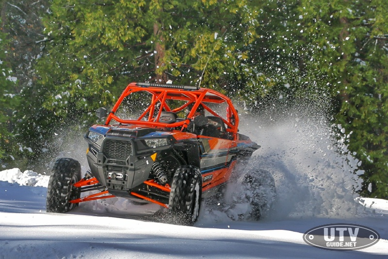 Polaris RZR XP Turbo in the snow