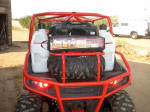 Side x Side Outfitterz - Polaris RZR Roll Cage. Room for fuel, spare tire and your gear.