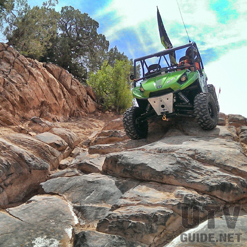 Kawasaki Teryx descending High Dive on Behind the Rocks